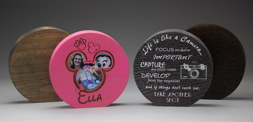 "8"" dia. x 1.5"" Circle Expression Block Plaque"