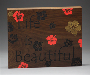 "8"" x 10"" x 1.5"" Expression Block Plaque"
