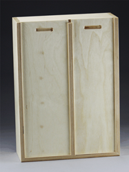 Baltic Birch Slide Lid Double Compartment Box