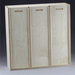 Baltic Birch Slide Lid Triple Compartment Box